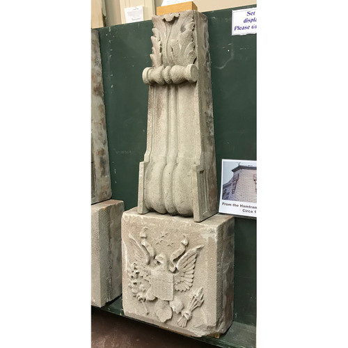 S18089 - Antique Carved Stone Building Ornament