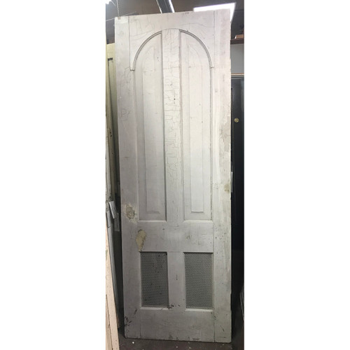 "D19004 - Antique Victorian Era Pine Four Panel Interior Door 29-1/2"" x 86-3/4"""