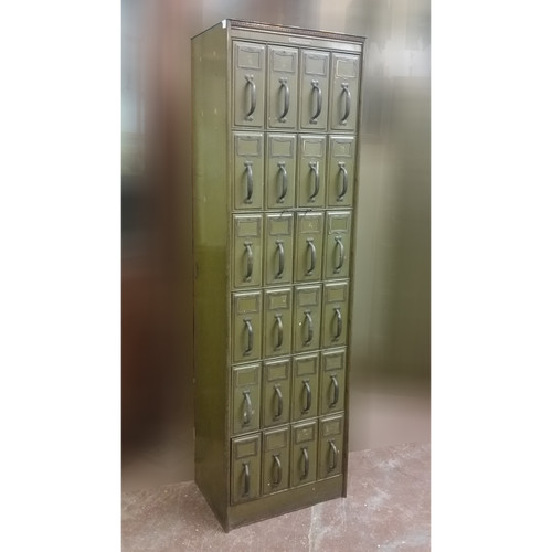 F19032 - Antique Metal Filing Cabinet