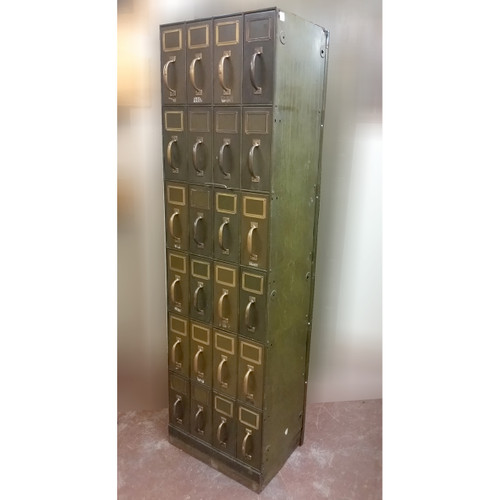 F19033 - Antique Metal Filing Cabinet