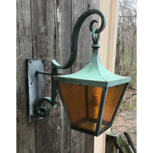 L19081 - Antique Wrought Bronze Exterior Lantern Sconce