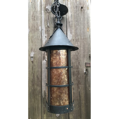 L19093 - Antique Wrought Iron Lantern Fixture
