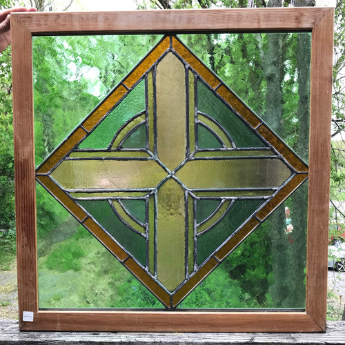 G19094 - Antique Stained Glass Window