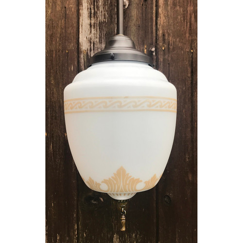 L19137 - Custom Pendant Fixture with Antique Globe