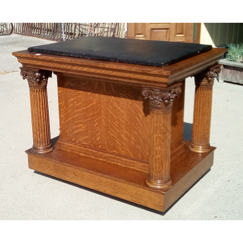 F19080 - Antique Oak Altar
