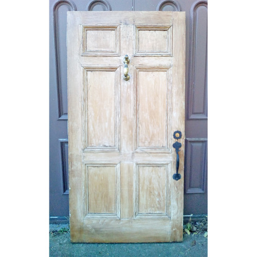 "D19103 - Antique Pine Six Panel Exterior Door 40"" x 80"""