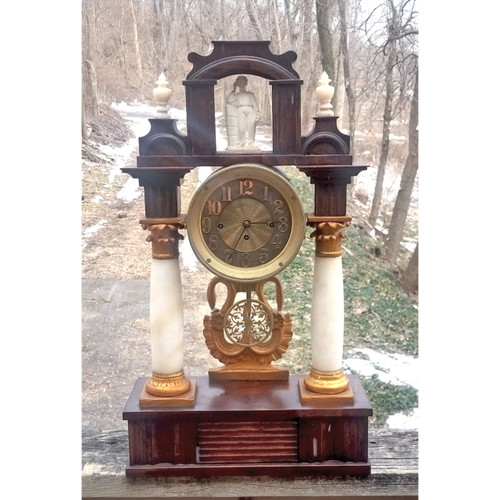 A20015 - Antique Portico Mantel Clock