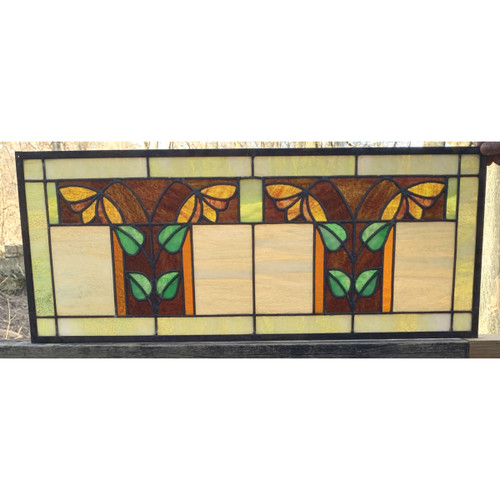 G20018 - Antique Arts & Crafts Stained Glass Window