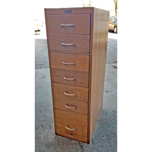 F20014 - Antique Quartersawn Oak Filing Cabinet