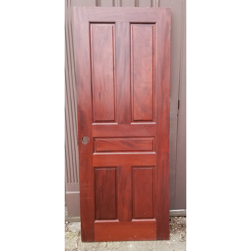 "D20010 - Vintage Five Panel Mahogany Interior/Exterior Door 30"" x 76"""