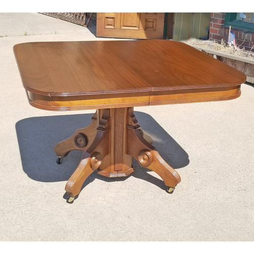 F20025 - Antique Eastlake Style Walnut Dining Table