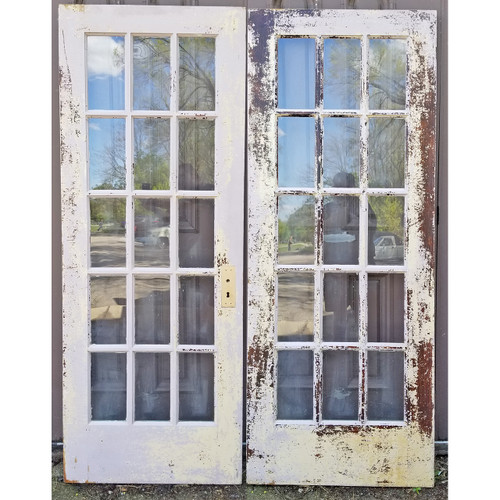 """D20021 - Pair of Antique French Doors 60"""" x 79-1/4"""""""