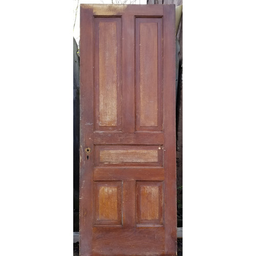 "D20026 - Antique Pine Five Panel Door 31-1/2"" x 83-1/2"""