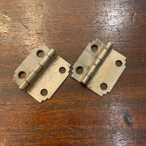 H20001 - Pair of Art Deco Cabinet Hinges