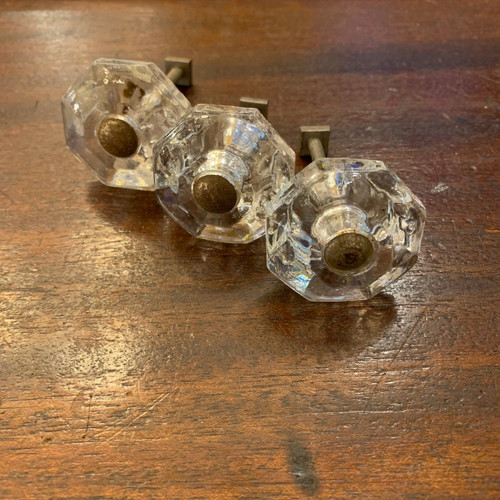 H20006 - Set of Three Antique Glass Cabinet Knobs