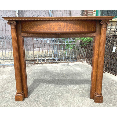M20006 - Antique Late Victorian Fireplace Mantel