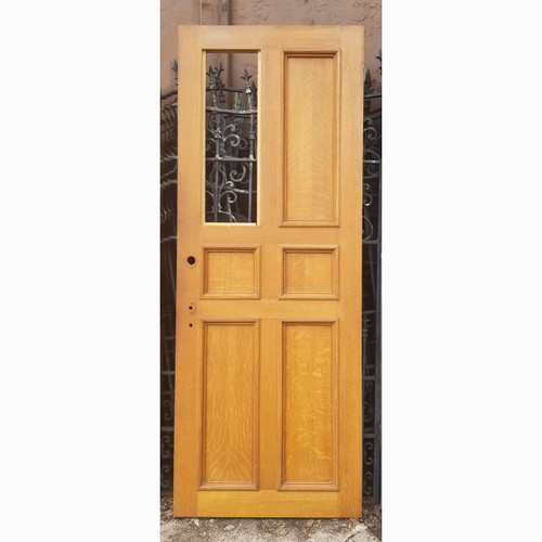 "D20076 - Vintage Paneled Oak Interior/Exterior Door 31-3/4"" x 83-3/4"""