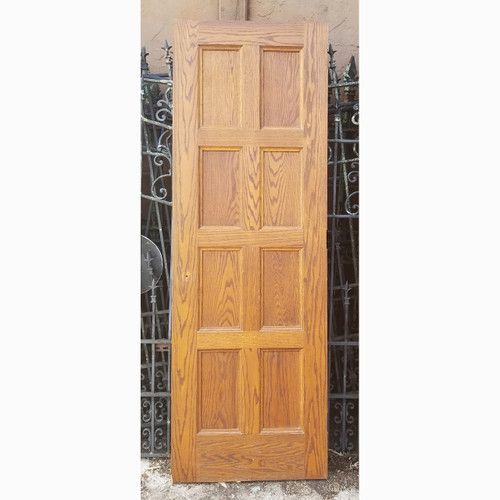 "D20077 - Vintage Paneled Oak Interior Door 27-3/4"" x 82-1/4"""