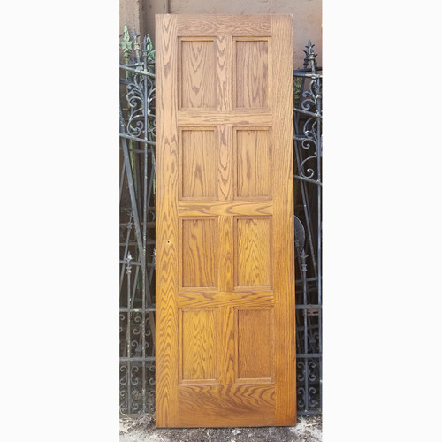 "D20078 - Vintage Paneled Oak Interior Door 28"" x 82-1/2"""