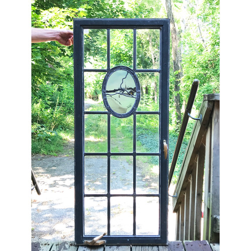 G20030 - Vintage Leaded Glass Casement Window
