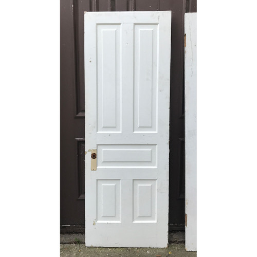 "D20096 - Antique Painted Pine Traditional Five Panel Interior Door 27-3/4"" x 76-1/2"""