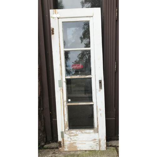 "D20103 - Antique Diminutive Painted Pine Exterior Storm Door 23-1/2"" x 68"""