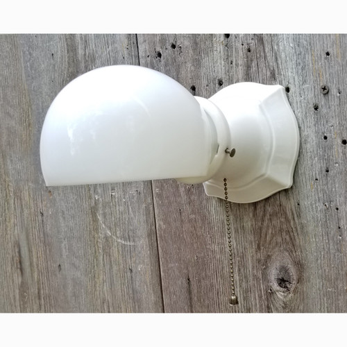 L20106 - Antique Porcelain Bathroom Sconce