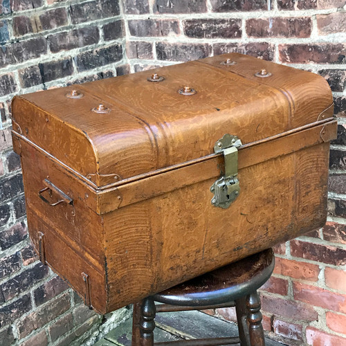 A20083 - Antique Grain Painted Metal Chest