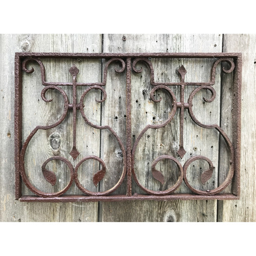 S20010 - Antique Wrought Iron Window Grill