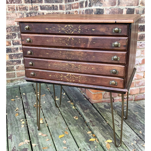F20091 - Antique Spool Cabinet Table