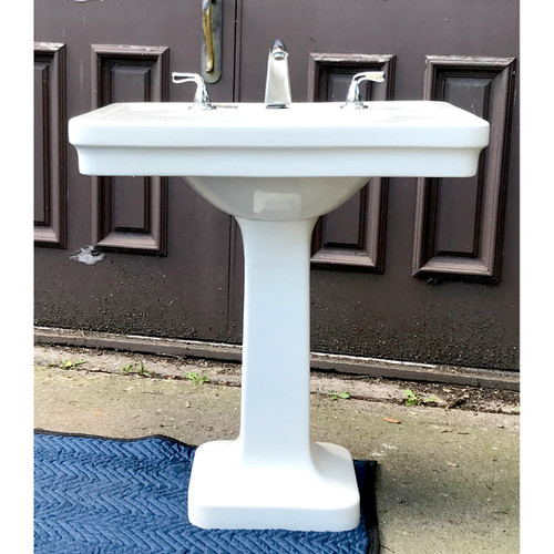 P20008 - Antique Porcelain Pedestal Sink