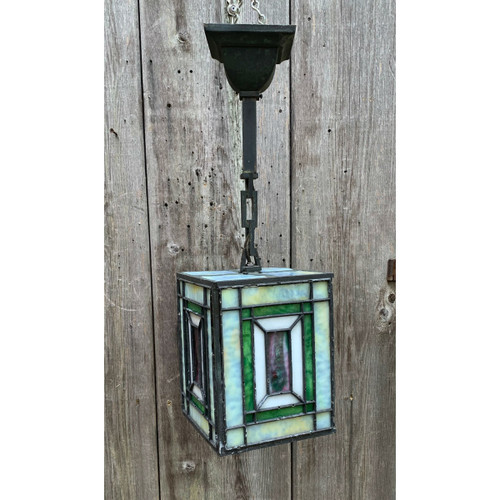 L20128 - Antique Arts & Crafts Lantern Pendant