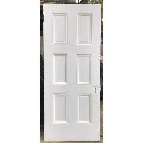 "D20119 - Antique Int/Ext Six Panel Door 33-3/4"" x 82"""