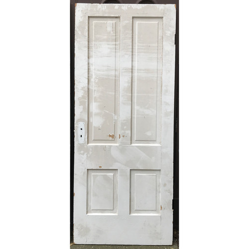 "D20120 -  Antique Int/Ext Four Panel Door 34-1/2"" x 82-1/2"""
