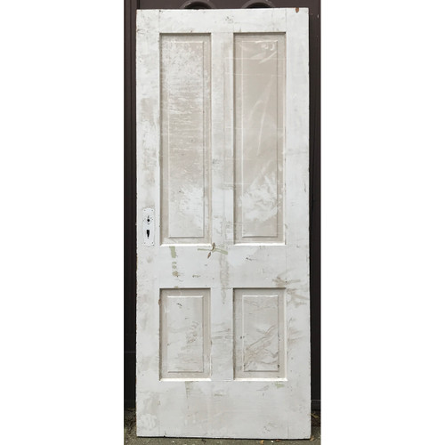 "D20121 -  Antique Int/Ext Four Panel Door 33-3/4"" x 83"""