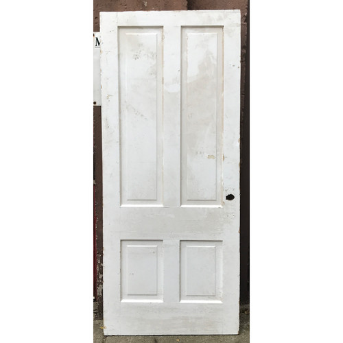 "D20123 -  Antique Int/Ext Four Panel Door 34"" x 79-3/4"""