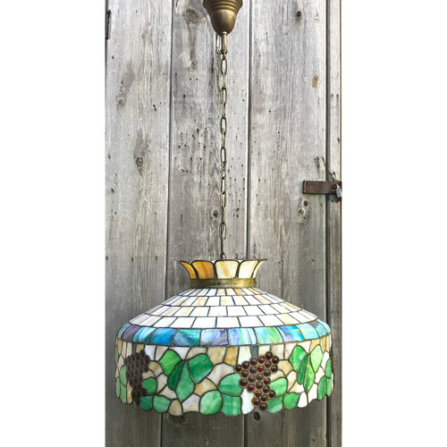 L20152 - Antique Stained Glass Fixture