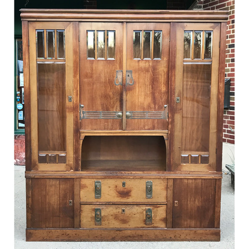 F20122 - Antique English Arts and Crafts Cabinet