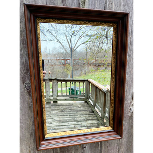 A20052 - Antique Victorian Walnut Frame with Beveled Mirror