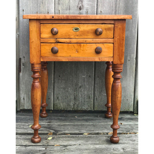F20127 - Antique Birch Side Table