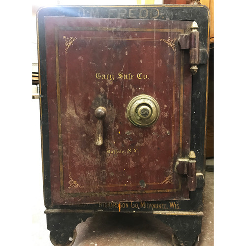 F20141 - Antique Turn-of-the-Century Cast Iron Safe