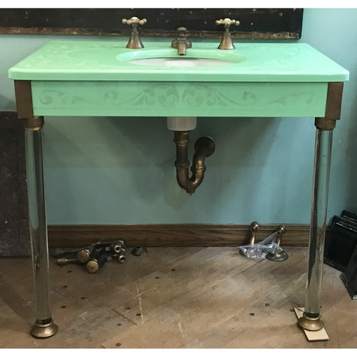 P20011 - Extremely Rare Antique Edwardian Glass Sink