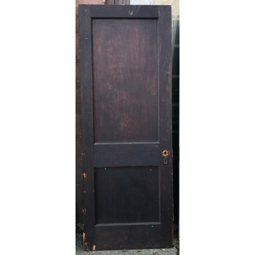 "D20132 - Antique Traditional Two Panel Interior Door 29-1/4"" x 78-1/2"""