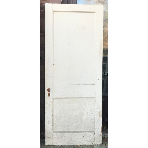 "D20133 - Antique Traditional Two Panel Interior Door 31-3/4"" x 77-3/4"""
