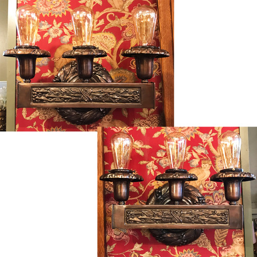 L20170 - Pair of Antique Beaux Arts Barebulb Sconces