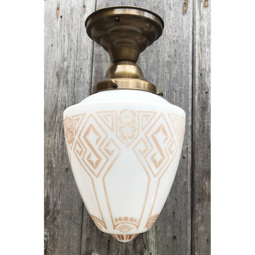 L21004 - Antique Shade on Custom Light Fixture