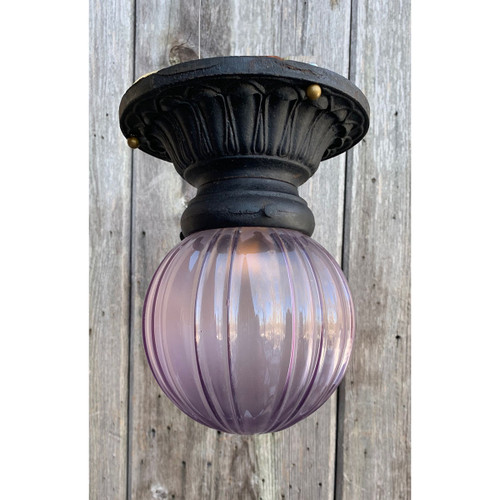 L21007 - Antique Exterior Flush Mount Light Fixture
