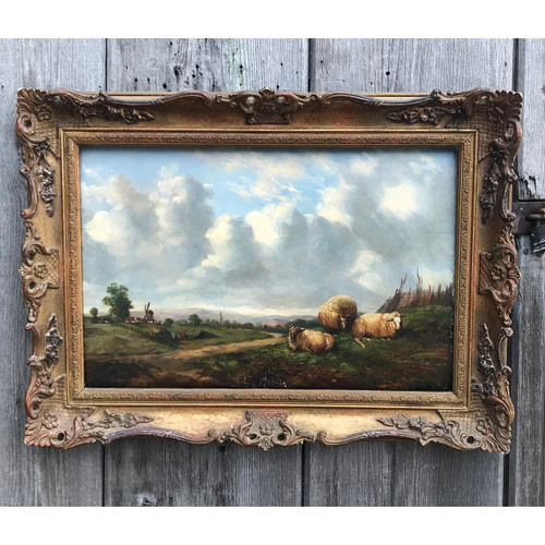 A21007 - Antique Oil Painting