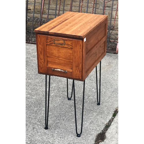 F21004 - Antique File Cabinet Custom Table
