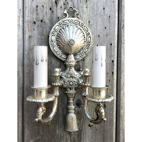 L21011- Antique Double Arm Candle Sconce